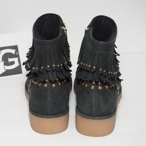 UGG Shoes - UGG Ankle Boots Moccasin Studs Black